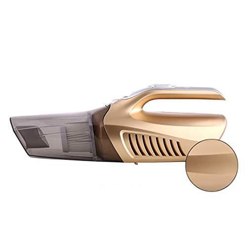 Aspirador de Coche 4 en 1, Aspirador de Bomba Inflable de Mano para Coche, Oro