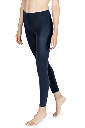 sockenkauf24 Damen THERMO Leggings mit Innenfleece in 10 Farben extra warm Winter Leggings (40/42, Navy)