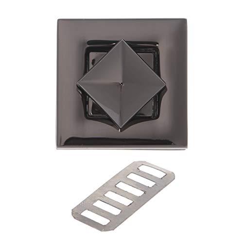 Furu Geldbörse Twist Turn Lock quadratische Form Frauen Star Metall DIY Schließe Turn-Twist Lock für Schultertasche Handtasche Fashion decorsquare BK