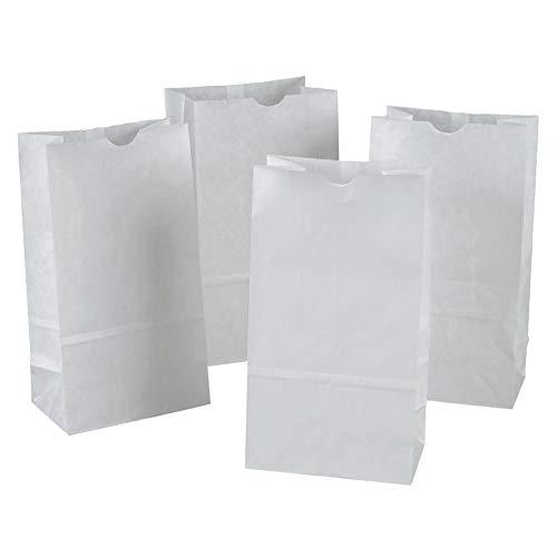 """Rainbow PAC72020 Kraft Bag, White, 6"""" x 3-5/8"""" x 11"""", 100 Bags"""