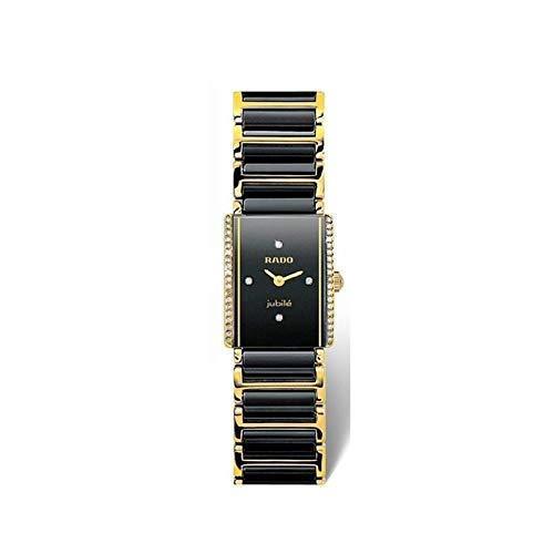 Reloj Rado Integral Jubilé en cerámica Negra, Dorado y Diamantes, Ref. R20339712
