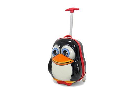 Kinderreise 2 Pinguin Koffer Kindergepäck, 39 cm, 11.0 Liter, schwarz
