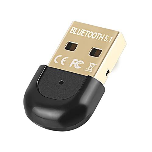 Rpanle Adaptateur Bluetooth 5.1 Dongle USB, Bluetooth Dongle Mini Clé Bluetooth Transmetteur Récepteur pour Casque, Souris, Manette, imprimantes, Tablette, Compatible avec Windows 10/8.1/8/ 7