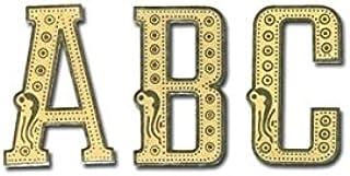 Rospil Lettere di Corone Bobina Cellophane con Disegni, Trasparente Oro 13.00x9.00x1.00 cm