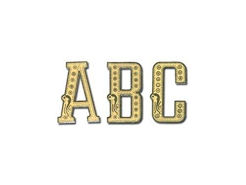 Rospil - Lettere per nastri funerari, colore oro, 13 x 9 x 1 cm