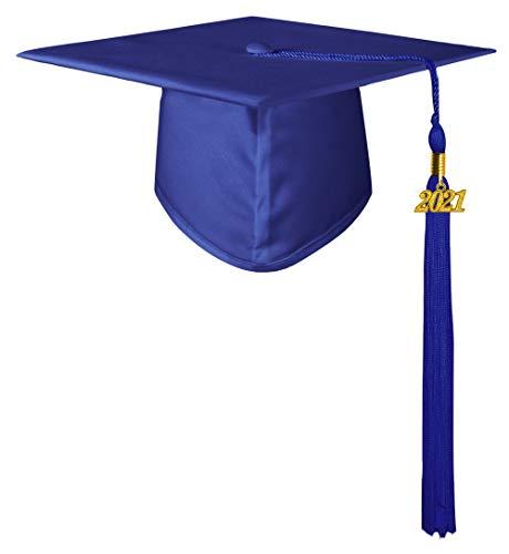 GraduatePro Doktorhut Abschluss Hut Uni Akademiker Bachelor Master College Graduation Cap 2021 Studienabschluss Kappe Hüte Königsblau