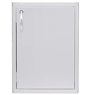 Blaze Grills Universal Stainless Steel Outdoor Kitchen Cabinet BBQ Island Single Access Door, Right Side
