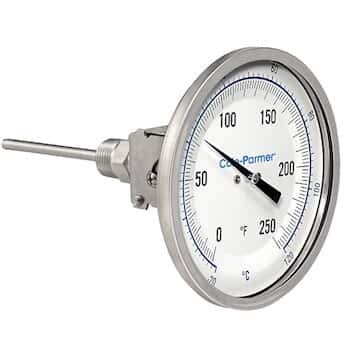 """Cole-Parmer Industrial unisex Bimetal Super Special SALE held Thermometer 5"""" Adjust Dial"""