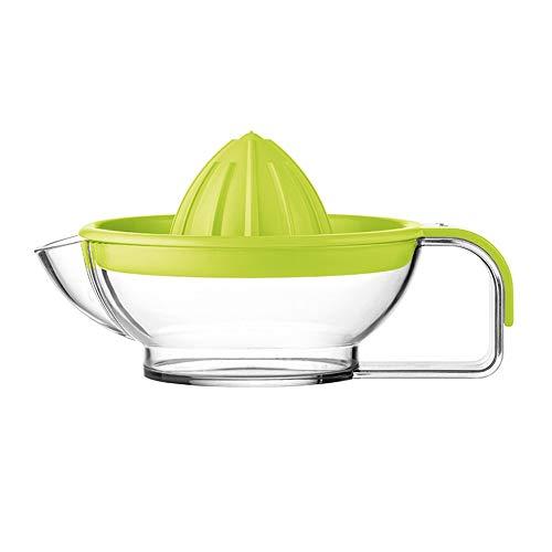 XJLJ Manuelle Entsafter Manueller Squeezer Citrus Hand Lemon orange Juicer Reibahle mit Griff und Ausgusstülle Heavyweight Glass (Color : Green, Size : 20X11CM)