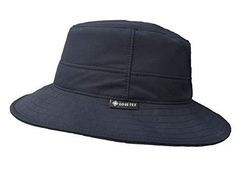 Wegener Gore-Tex-Hut Fischerhut Gore-Tex und UV-Schutz aus 100% Polyester (schwarz, 57)