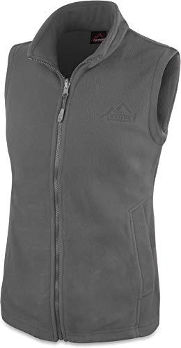 normani 280g Fleeceweste für Damen - Winddicht, leicht, warm, elegant Farbe Grau Größe XXL
