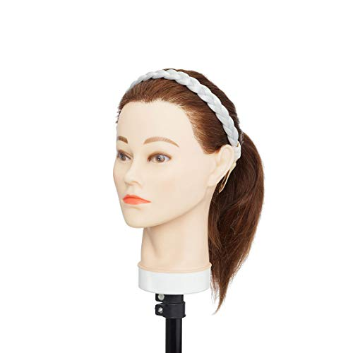 Hair Extensions Estensioni dei capelli Treccia intrecciata Fascia intrecciata sintetica per capelli Fascia per capelli per regalo di Natale Grigio argento