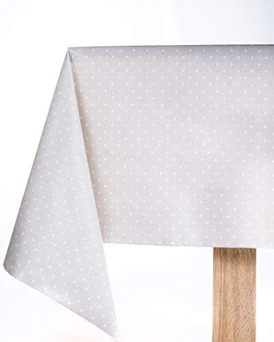 Round 140cm 55 Gris uni en PVC Nappe en vinyle facile /à nettoyer ronds carr/és ou rectangulaires
