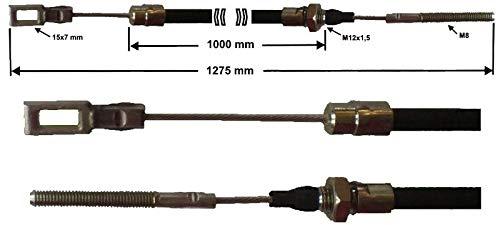 FKAnhängerteile 1 x Bremsseil Peitz S234R -R234/76 - R160/76 - R205/83 HL:1000mm - GL:1275 mm