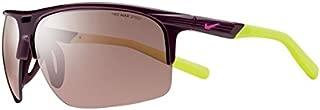 EV0801-607 Run X2 S E Sunglasses (One Size), Deep Burgundy/Volt, Max Speed Tint Lens