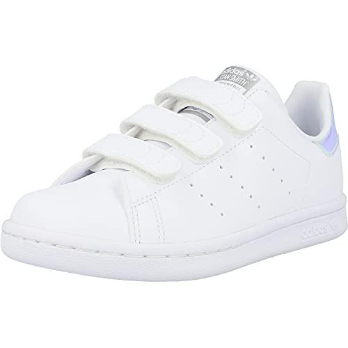 adidas Stan Smith CF, Sneaker, Footwear White/Footwear White/Silver Metallic, 30.5 EU