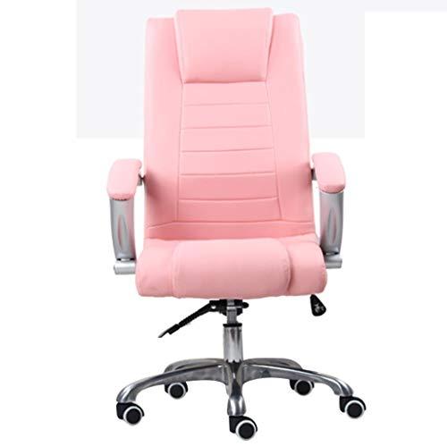HYJBGGH Rennsimulations-Stühle Büroluxuslehn-Chefstuhl Stilvoller Ergonomischer Computerspielhauptstuhl Atmungsaktiver Elektronischer Sportstuhl Männlicher Und Weiblicher Lager 400 kg (Color : Pink)
