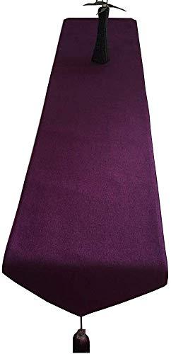 WYJW Tafelloper sjaal katoenen dressoir sjaal breedte 30cm kwast voor bruiloft keuken maaltijd, anti-slip doilies dagelijks gebruik (kleur: paars, grootte: 30x; 330cm)