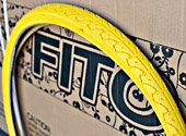 1 Pair of Duro Patterned Tread Bicycle Tire, 26' x 1.50' - Yellow Tires x2, for Beach Cruiser Bikes & Mountain Bikes
