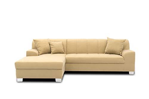 DOMO. collection Capri Ecksofa | Eckcouch in L-Form, Polsterecke Sofa Garnitur, beige, 239x152x75 cm