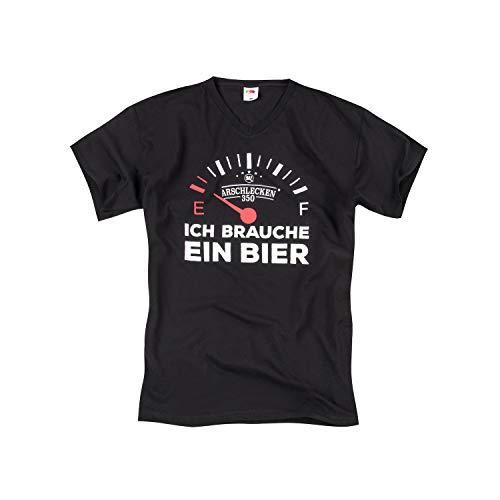 T-Shirt Original Arschlecken 350 Ich Brauche EIN Bier, Baumwolle, schwarz, S-M-L-XL-XXL (XL)