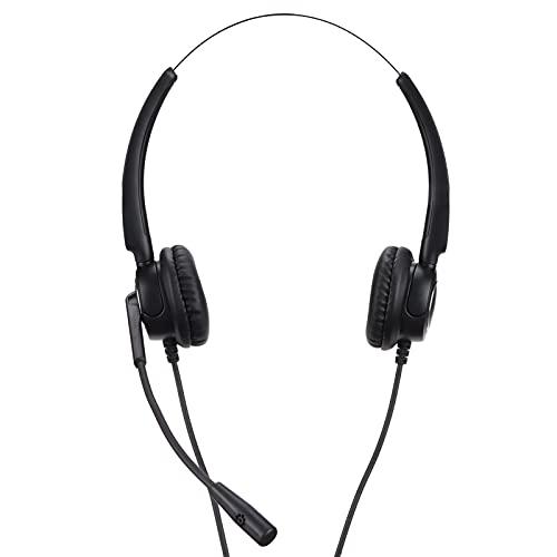 xiji Auriculares para Empresas, Auriculares Digitales para Atención Al Cliente con Micrófono para Teléfonos De Escritorio para Teléfonos Fijos(VH510D-RJ9 (binaural))