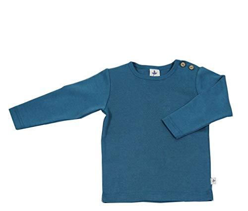 Leela Cotton Baby Kinder Langarmshirt Bio-Baumwolle GOTS 13 Farben T-Shirt Shirt Jungen Mädchen Gr. 50/56 bis 140 (86/92, türkis/2060TU)