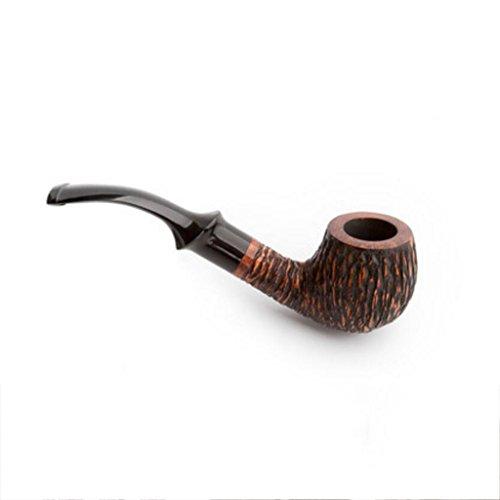 MXJ61 Pipa de tabaco piedra Nanmu hombres curvó madera sólida hecha a mano Retro fumar pipa edición de lujo ( Color : B )
