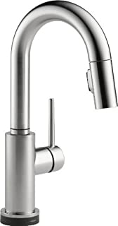 Delta Faucet 9959T-AR-DST Trinsic Single Handle Pull-Down Bar/Prep Faucet Featuring Touch2O Technology, Arctic Stainless b...