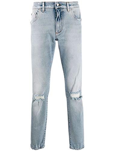 Luxury Fashion | Dolce E Gabbana Uomo GY07CDG8BF3S9001 Blu Elastan Jeans | Stagione Outlet