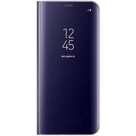 BCIT Samsung Galaxy S9 Plus Funda -Modelo Inteligente Fecha/Hora Ver Espejo Brillante tirón del Caso Duro con para el Samsung Galaxy S9 Plus - Púrpura