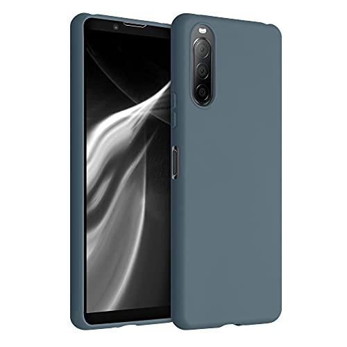 kwmobile Hülle kompatibel mit Sony Xperia 10 II - Hülle Silikon - Soft Handyhülle - Handy Hülle in Slate Gray