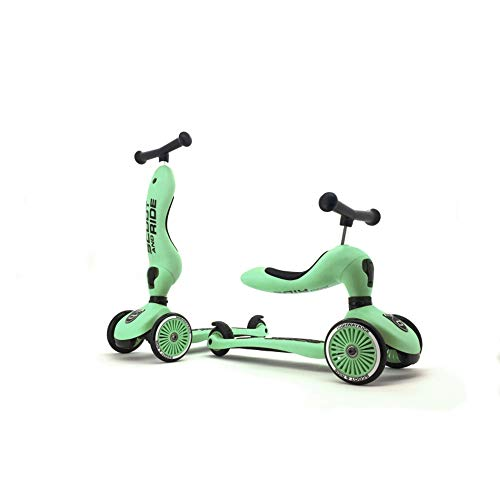 Scoot & Ride Unisex – Baby Highway Kick 1-Scoot & Ride 2 in 1 Kickboard con seduta (Kiwi) 1, 57,5 x 17,5 x 26,5 cm