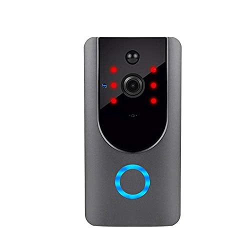 Wi-Fi vídeo cámara del timbre, con detector de movimiento, las cámaras de seguridad con dos vías de conversación, Gran angular, visión nocturna, notificaciones push, Nube de almacenamiento gratuito y