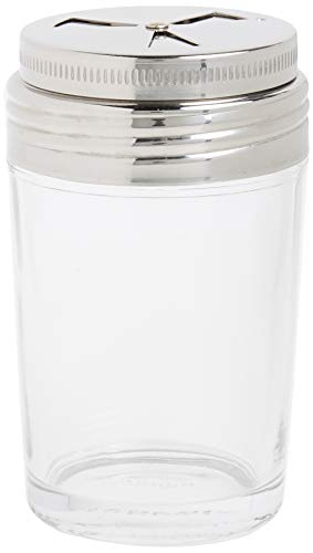 """Norpro Shaker Cup Glass Adjustable Pizzeria Style Pepper/Salt/Cheese/Spice 5.25"""""""