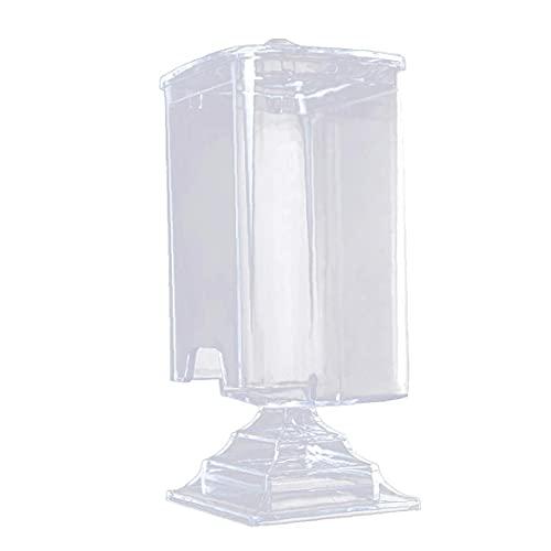 Porte-tampons de coton Swab pot cosmétique coton Pad Holder Rounds acrylique transparent Organisateur, boîte de maquillage