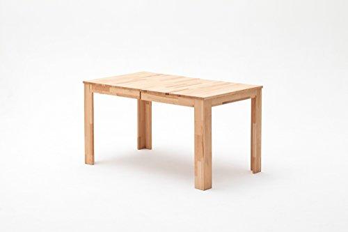 lifestyle4living Esstisch aus Massivholz - Kern-Buche, 140 x 80 cm, rechteckig, ausziehbarer Esszimmertisch auf 220 x 80 cm