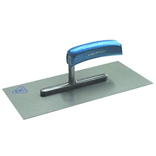 Jung Henkelmann Glättekelle (Carbonstahl, Holzgriff, ungezahnt, ergonomische Form, 280x130x0,7mm) 80728000
