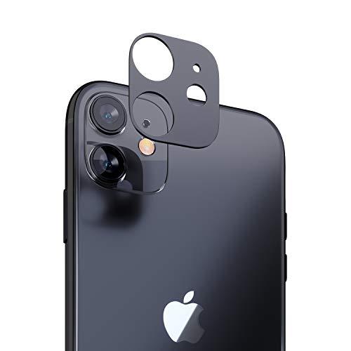 innoGadgets Kameraschutz kompatibel mit iPhone 11 | Passgenauer Kamera Schutz gegen Stöße und Kratzer | staubfrei installieren mit Reinigungs-Set | Aluminiumrahmen in Schwarz/Grau
