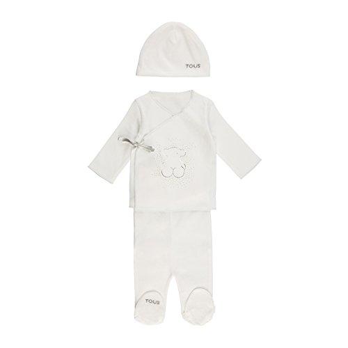 Tous Baby Crown-802 Conjuntos de Pijama, Blanco (Blanco 00001), 50 (Tamaño del...