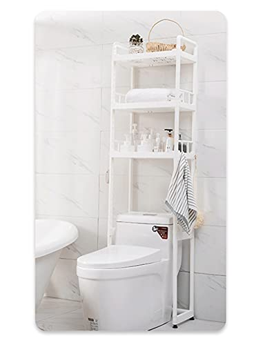 WQXD Rack de inodoros Independientes de 3 Niveles, Bastidor de Almacenamiento multifunción de 2 Niveles sobre la Lavadora Cuarto de baño Saver Saver Sala de lavandería