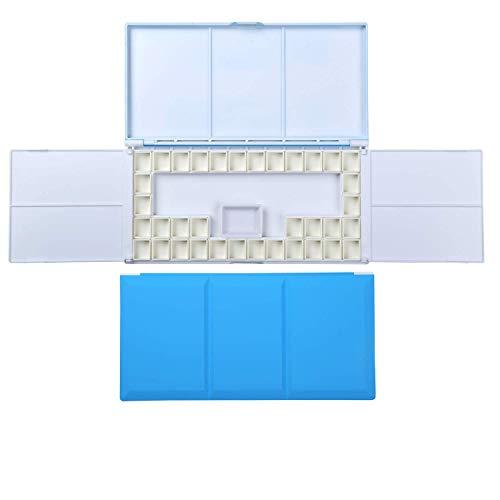 WKZYLKK Bandeja de plástico para Paleta y 36 bandejas extraíbles,Paleta de Pintura para Pintura acrílica,Acuarela,área de Mezcla Grande,Plegable,portátil para Pintura al Aire Libre,Viajes