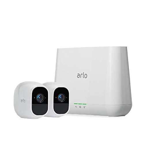 Arlo (VMS4230P) Pro 2 - Wireless Home Security Camera System with Siren | Rechargeable, Night vision, Indoor/Outdoor, 1080p, 2-Way Audio, Wall Mount | Cloud Storage Included | 2 Camera Kit