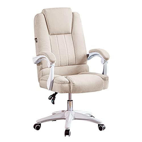 Silla de oficina, escritorio, tela, silla de computadora, polea, silla de juego, inclinación de elevación ajustable 150 con apoyabrazos y soporte de cintura para silla de escritorio para el hogar