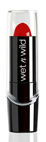 Wet n Wild – Silk Finish Lipstick- Pflegender Lippenstift mit Aloe Vera und Vitamine A und E, Hot Red, 1 Stk. 3,6g