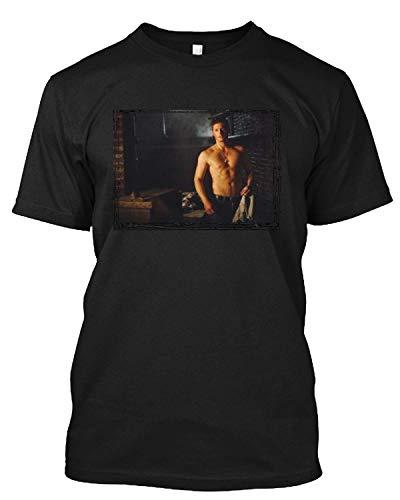 #Jensen Ackles - #Supernatural Bare Chest Over Arm T Shirt Gift Tee for Men Women Black