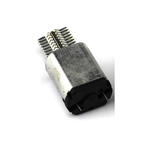 Qingn-Motor Motor Micro vibrador 1PC, Velocidad de Salida DC 3V 0.3A 2450RPM, 18,5 mm Motor de Cabeza Vibrante en Miniatura de Plata, Fuerte y Robusto