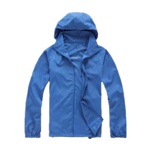Primavera y verano Nuevos hombres de secado rápido chaqueta protector solar impermeable delgada, beige, XL