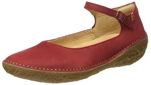 El Naturalista Borago, Ballerine con Cinturino alla Caviglia Donna, Rosso (Tibet Tibet), 41 EU