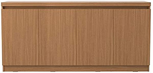ModHaus Living Modern Buffet Sideboard Cabinet With 6 Shelves And 4 Doors Includes Pen Maple Cream